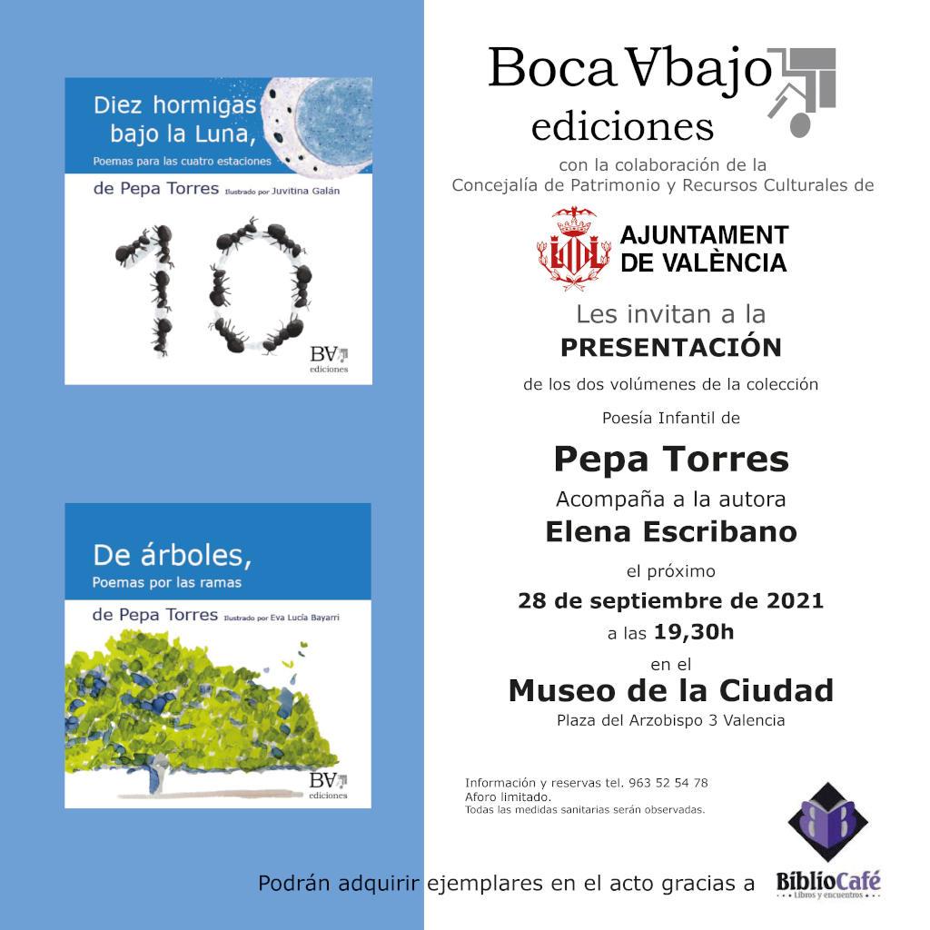 Promotion Pepa Torres September 28, 2021- Boca Abajo Ediciones